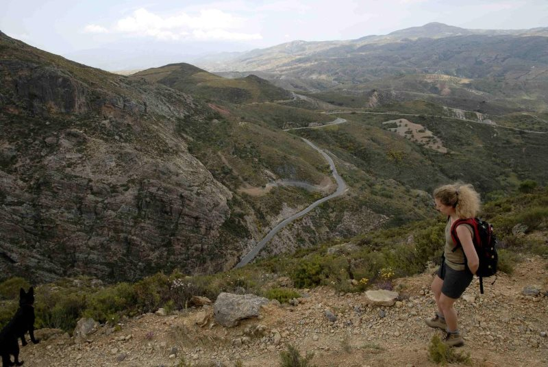 Walking in the lower reaches of the Alpujarras